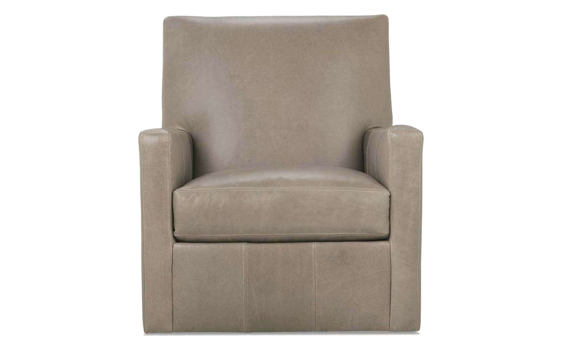 Carlyn Leather Swivel Glider Chair