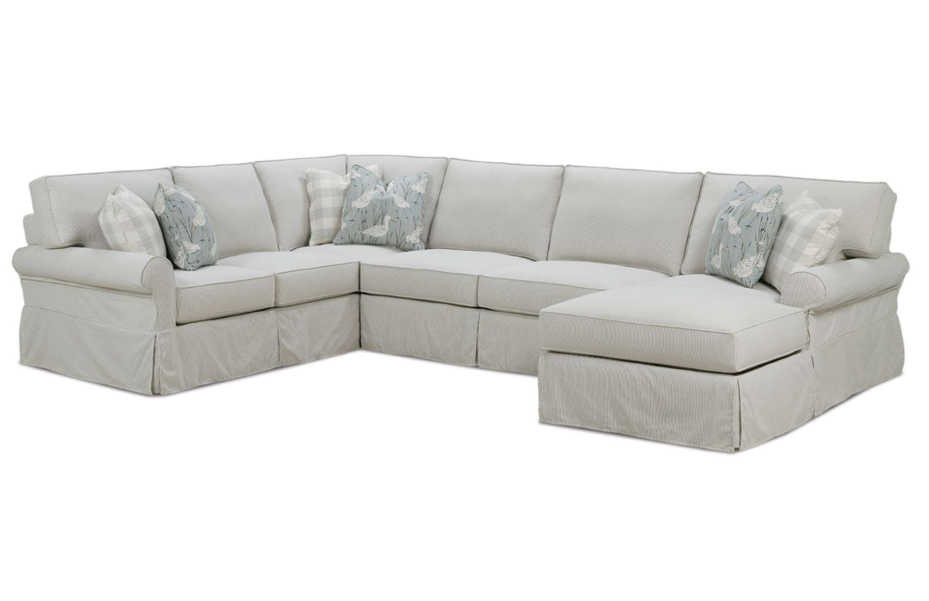 Easton Slipcover Sectional Sofa  Rowe Furniture  Rowe Furniture