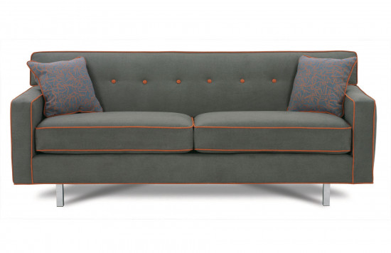 "Dorset 80"" Chrome Sofa"