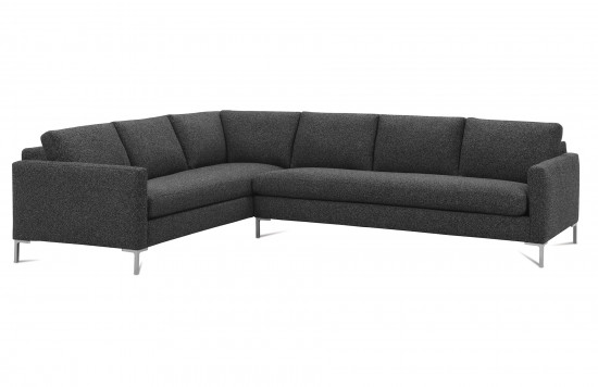 Modern Mix Plain Back Sectional Sofa