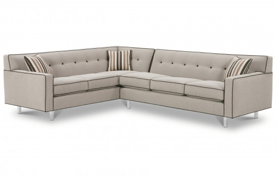 Dorset Chrome Sectional Sofa