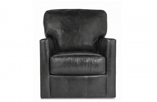 Evan Leather Swivel Chair