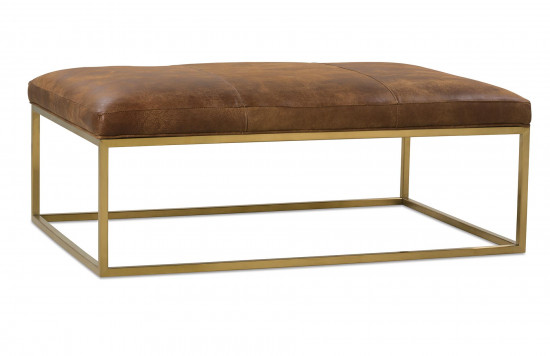 Percy Leather Cocktail Table Gold