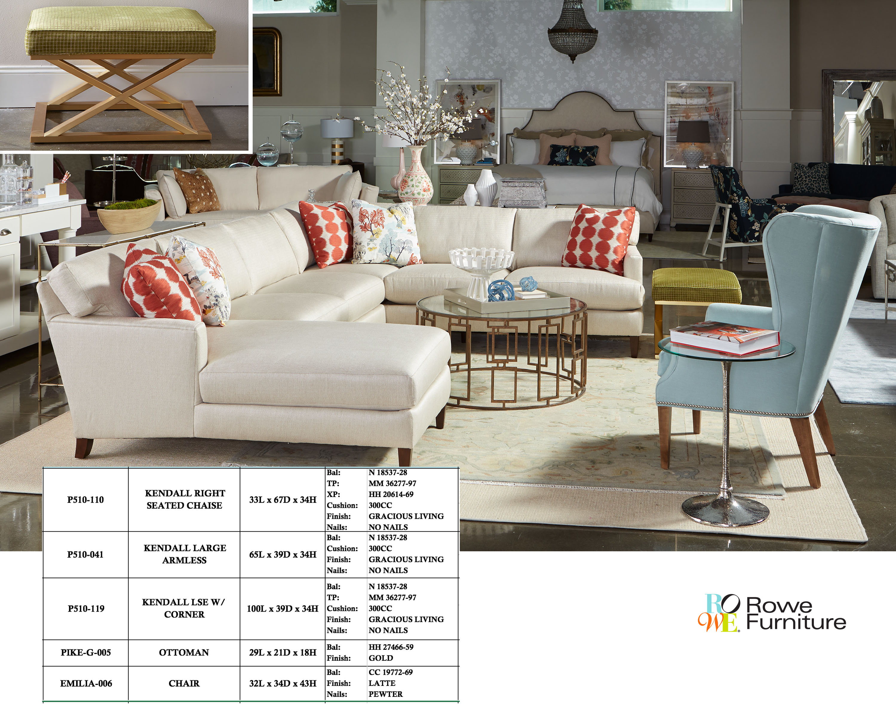 Superb Kendall Sectional Sofa In A Transitional Living Room Rowe Short Links Chair Design For Home Short Linksinfo
